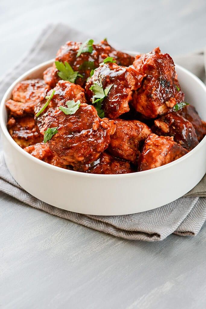 Slow Cooker Honey BBQ Meatballs - Easy Weeknight Meal