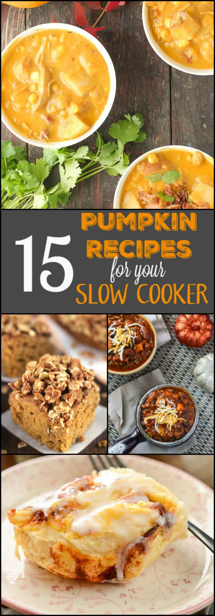Everyone loves pumpkin recipes and dishes you can make in your slow cooker are even better. 15 Pumpkin Recipes for your Slow Cooker has you covered.