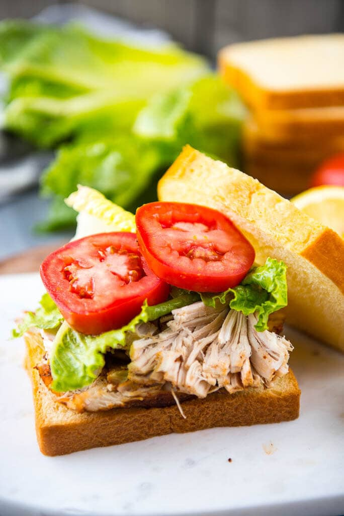 Slow Cooker Memphis Rubbed Turkey Sandwiches are the perfect way to make a simple lunch or dinner. Make ahead and have the most delicious sandwiches ever and be the envy of the office or lunchroom!