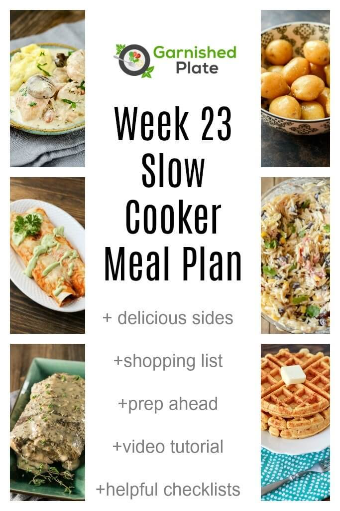 Garnished Plate Slow Cooker Weekly Meal Plans