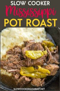 Slow Cooker Mississippi Pot Roast is a simple way to take your dinner from average to amazing! Mezzetta Pepperoncini Peppers give a tasty twist to roast beef for the ultimate family meal. #slowcookergourmet #slowcooker #missisippi #potroast #mezzetta #pepperoncini