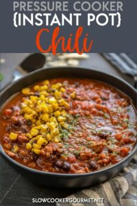 There are many ways to make chili recipes, but when you want that slow cooked flavor in an instant there's no better recipe than this simple Instant Pot Chili! I'll tell you how to make this delicious recipe that's so easy! And with the use of ground turkey, it makes it a more healthy option for your family. #slowcookergourmet #pressurecooker #instantpot #chili