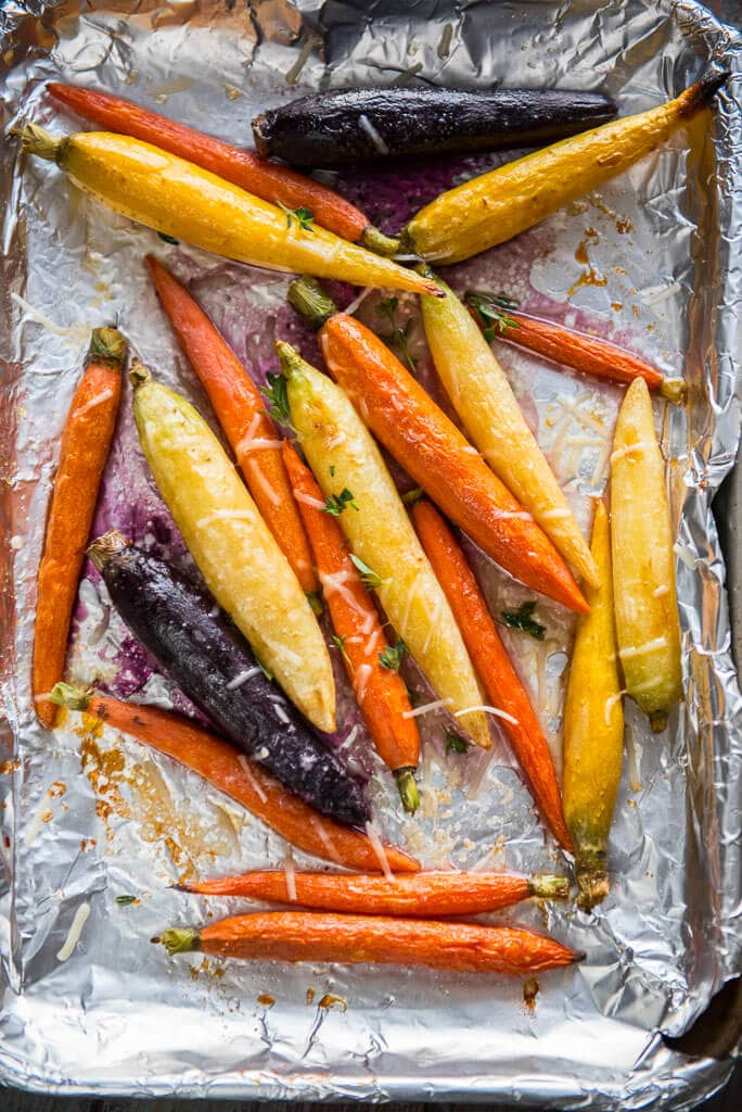Oven Roasted Carrots on baking sheet
