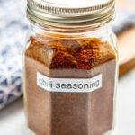 jar of homemade chili seasoning